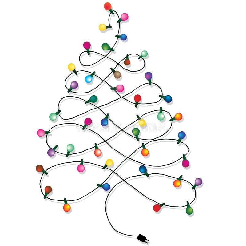 Guirnalda del árbol de navidad ilustración del vector