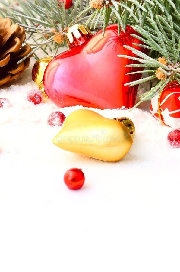 Guirnalda del árbol de navidad fotos de archivo