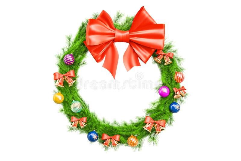 Guirnalda del día de fiesta de la Navidad, representación 3D ilustración del vector