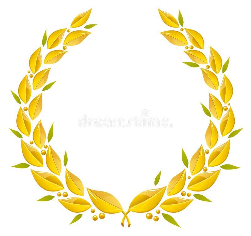 Guirnalda del laurel stock de ilustración