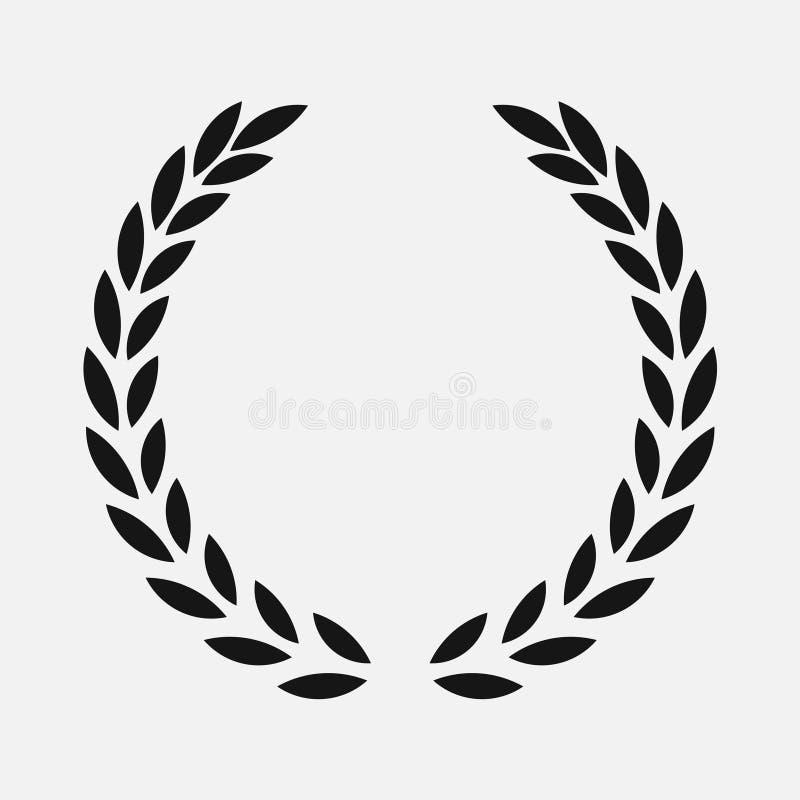 Guirnalda del laurel del icono - negro del ejemplo libre illustration
