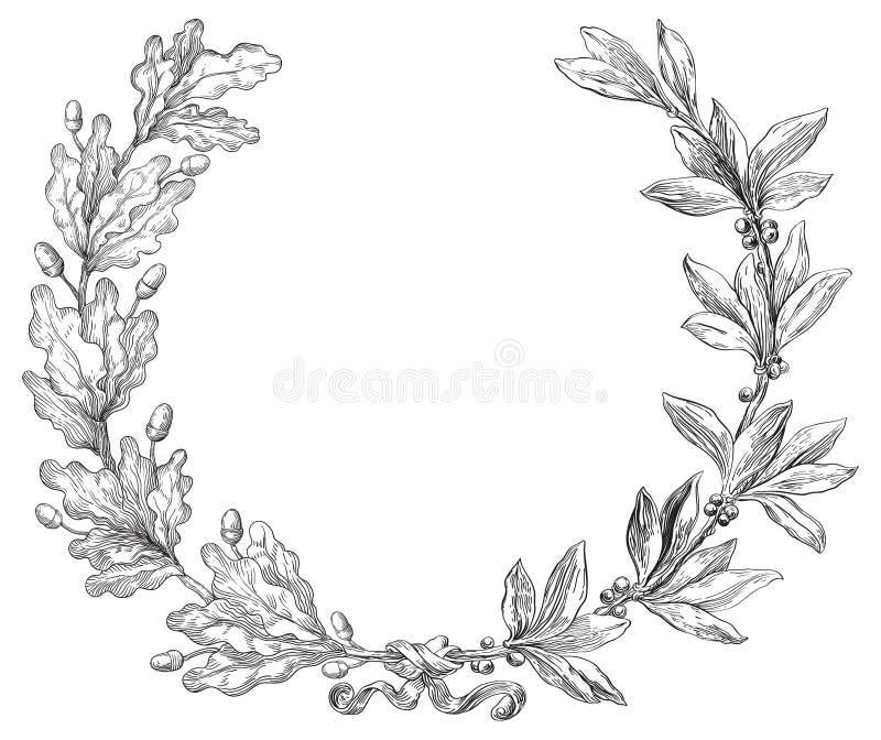 Guirnalda del laurel y del roble libre illustration