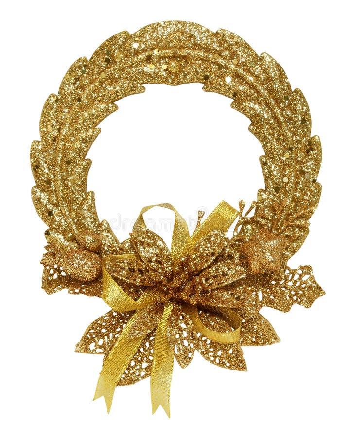 Guirnalda del oro de la Navidad fotos de archivo libres de regalías