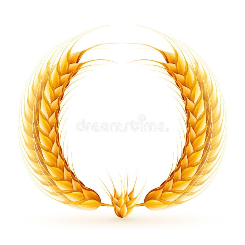 Guirnalda del trigo ilustración del vector