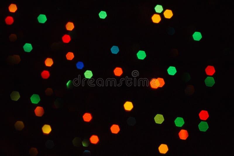 Guirnalda festiva Bokeh colorido fotos de archivo