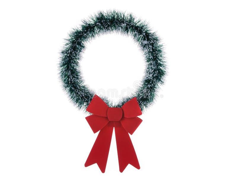 Guirnalda fina de la Navidad aislada en el fondo blanco imágenes de archivo libres de regalías