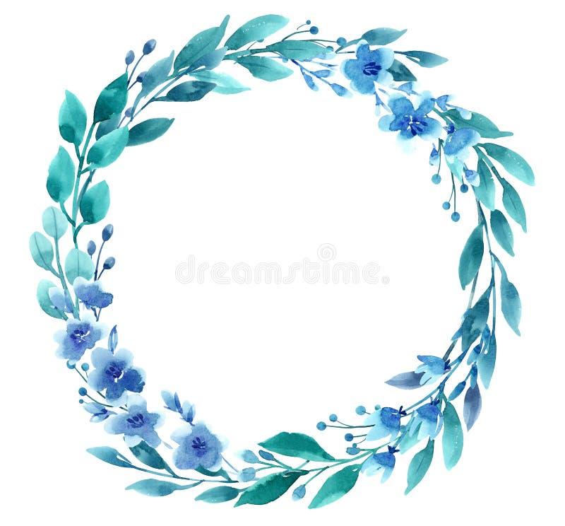 Guirnalda floral de la acuarela imagen de archivo