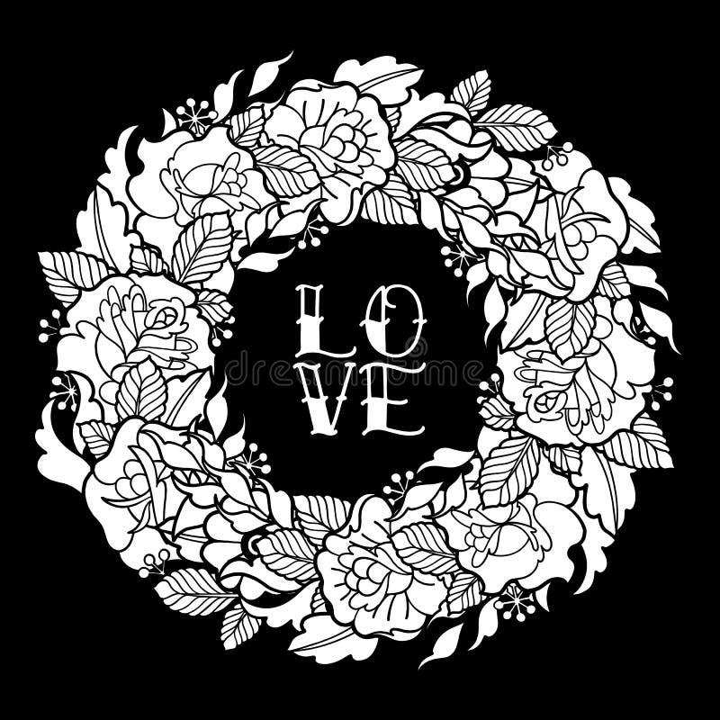 Guirnalda floral gráfica libre illustration