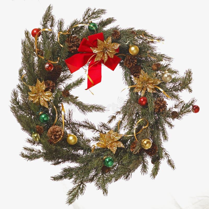Guirnalda natural de la Navidad imagen de archivo