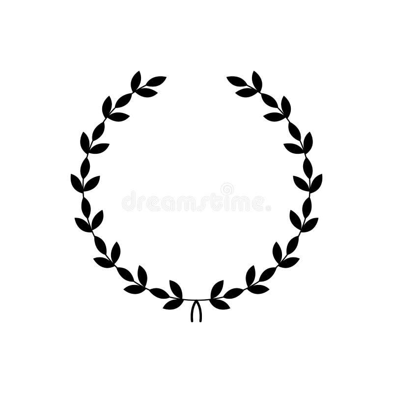 Guirnalda negra decorativa - símbolo del premio stock de ilustración