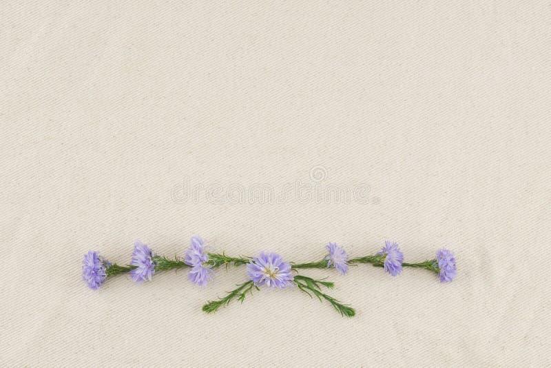 Guirnalda púrpura de las flores del cortador imagen de archivo libre de regalías