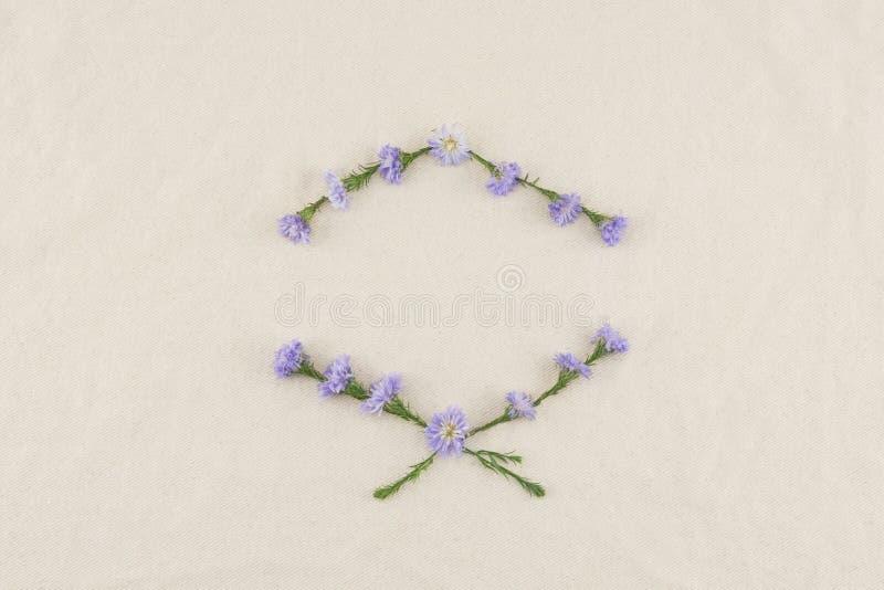 Guirnalda púrpura de las flores del cortador fotografía de archivo libre de regalías