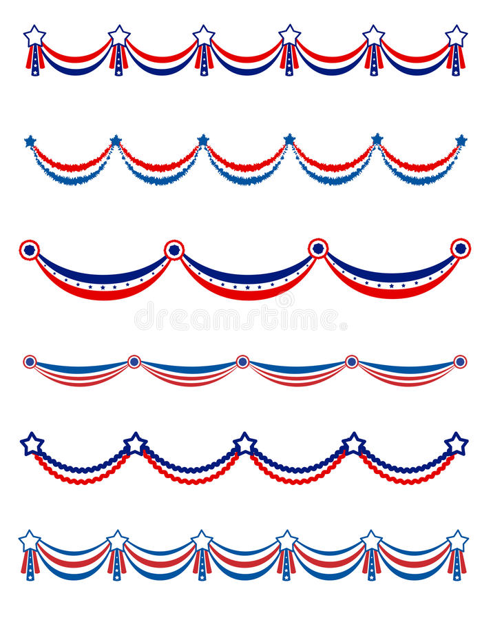 Guirnalda patriótica libre illustration