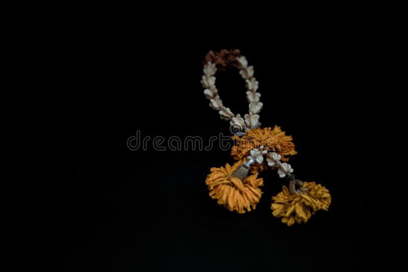 Guirnalda secada de la flor imagen de archivo libre de regalías