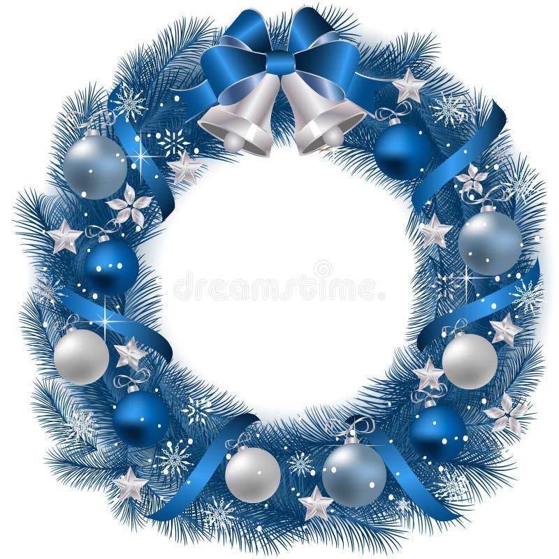 Guirnalda tradicional de la Navidad stock de ilustración