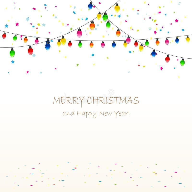 Guirnalda y confeti de la Navidad libre illustration