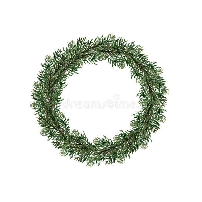 Guirnaldas de la Navidad de la acuarela stock de ilustración