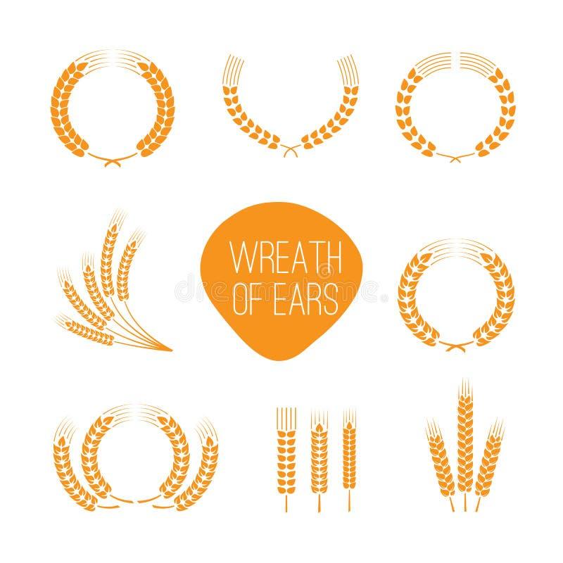 Guirnaldas de los oídos del trigo libre illustration