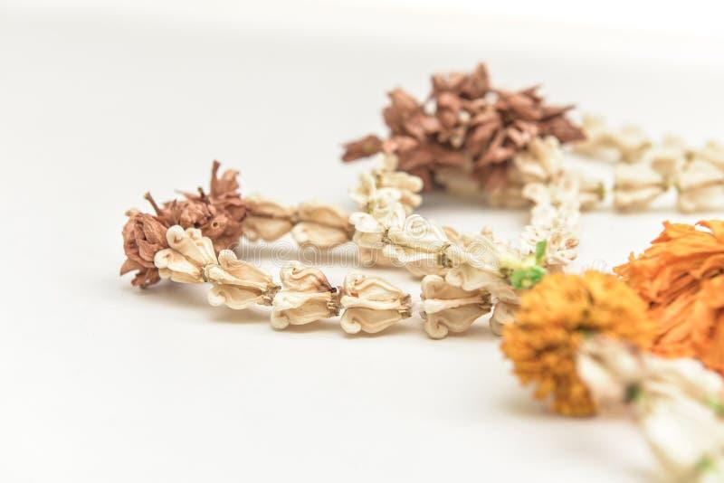 Guirnaldas secadas de la flor fotos de archivo