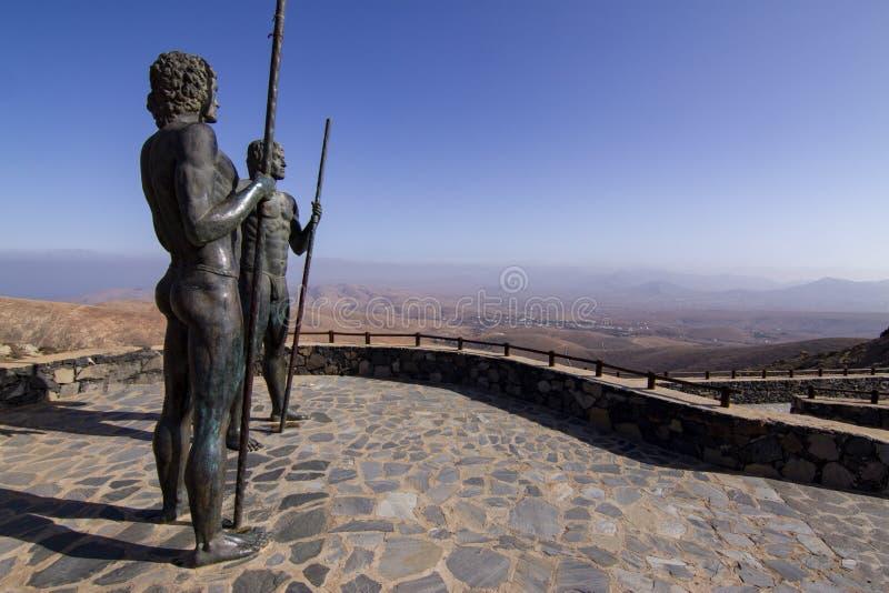 Guisa e ponto de vista de Ayose em Betancuria, Fuerteventura fotos de stock