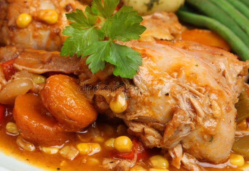 Guisado da galinha com vegetais fotos de stock royalty free