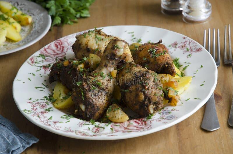 Guisado de galinha marroquino imagens de stock