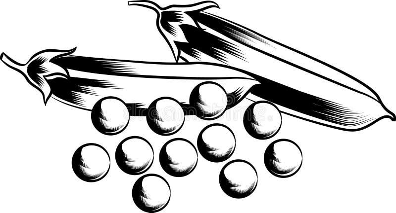 Guisantes con las vainas libre illustration