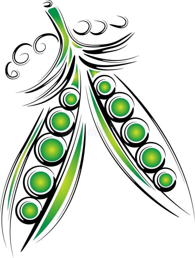 Guisantes verdes ilustración del vector