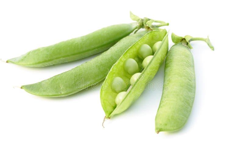 Guisantes verdes frescos vegetales imagen de archivo