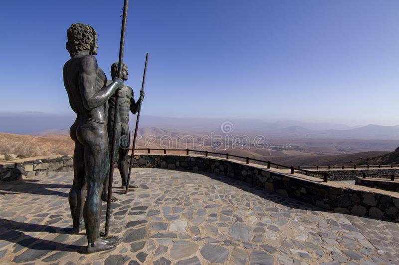 Guise and Ayose Viewpoint at Betancuria, Fuerteventura stock photos
