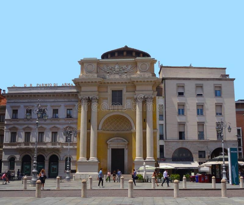 Guiseppe Garibaldi-vierkant, Parma, Italië stock afbeelding