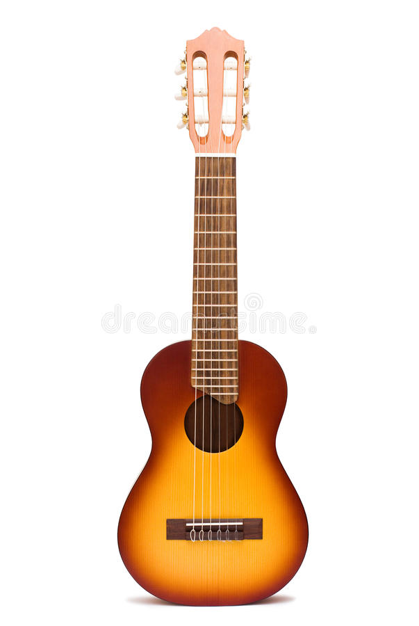 Guitalele acoustique photographie stock