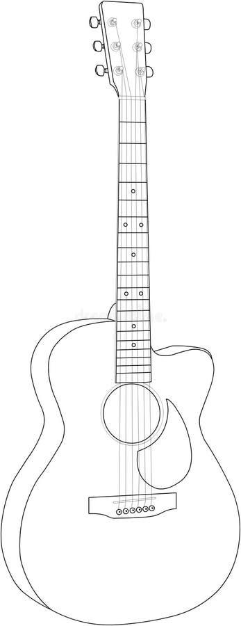 Guitar 04 stock photo
