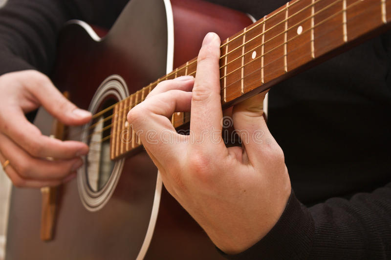 Download Guitar stock photo. Image of chord, instrument, playing - 12723508