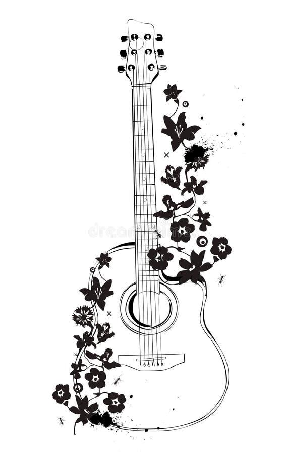 Download Guitar stock vector. Illustration of instrument, vector - 4106210