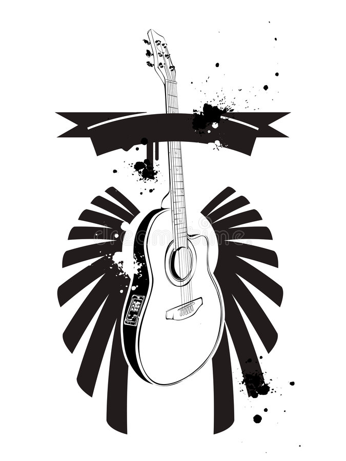 Download Guitar stock vector. Image of symbol, grunge, imagery - 4107449