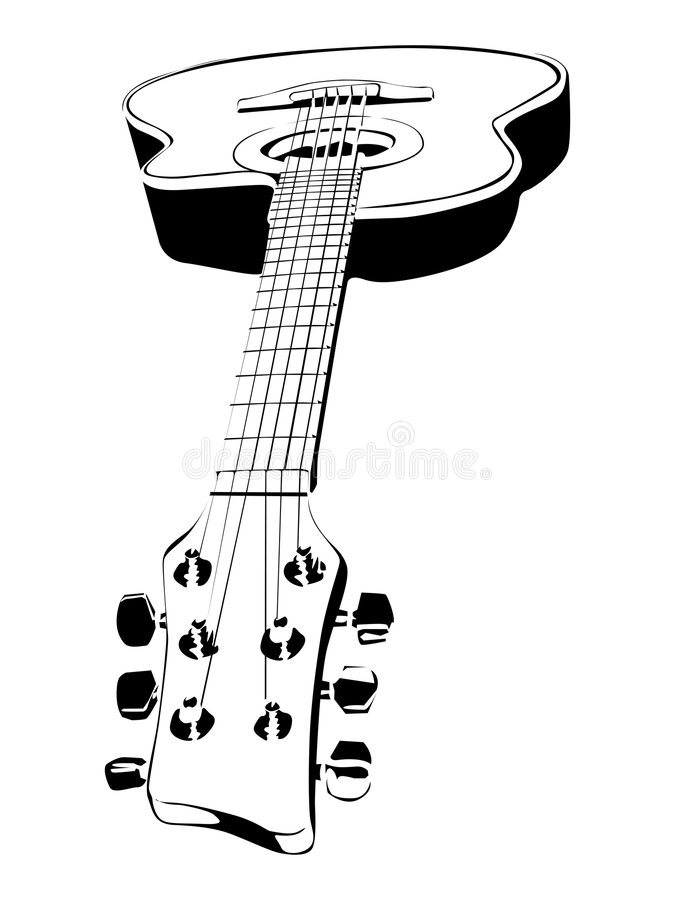 Download Guitar stock vector. Image of sound, design, music, decoration - 4125023