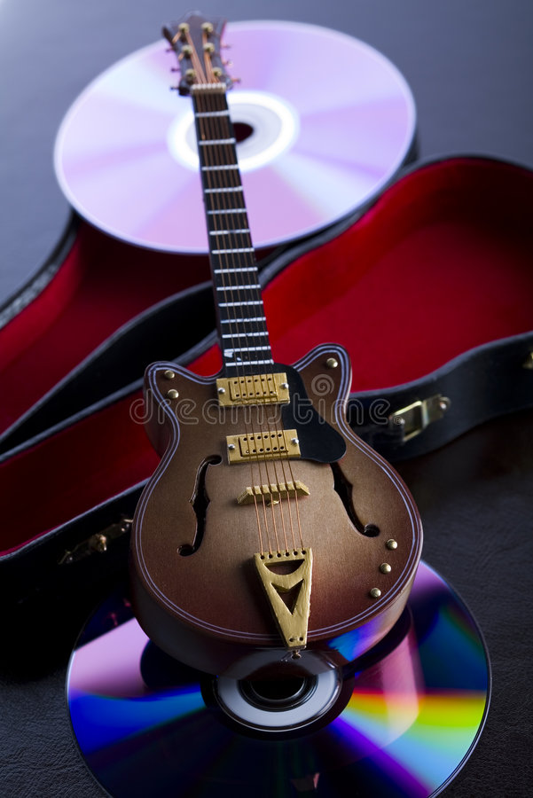 Guitar. Musical instrument - classic guitar and other objects royalty free stock photo
