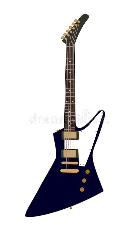 Guitar. Illustration of an electric guitar vector illustration