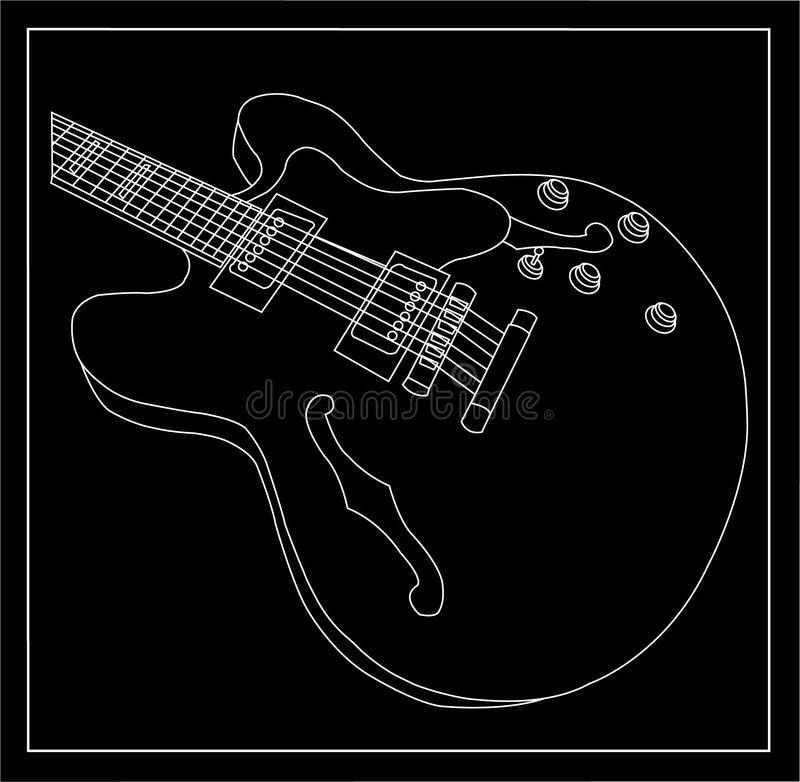 Download Guitar stock vector. Image of single, white, guitar, image - 9060922
