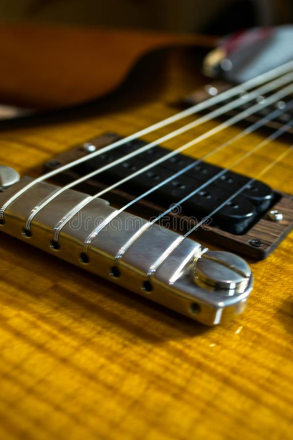 Guitar abstract picture stock image