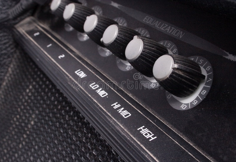 Guitar amp stock image