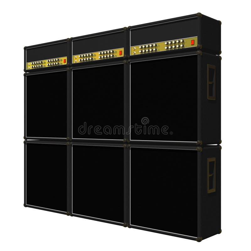 Download Guitar Amp Stacks stock illustration. Illustration of overdrive - 6972441