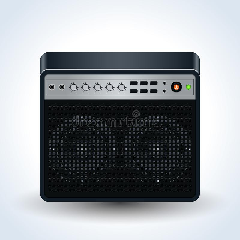 Guitar amplifier realistic vector icon royalty free illustration