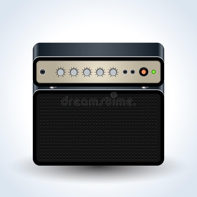 Guitar amplifier realistic vector icon vector illustration