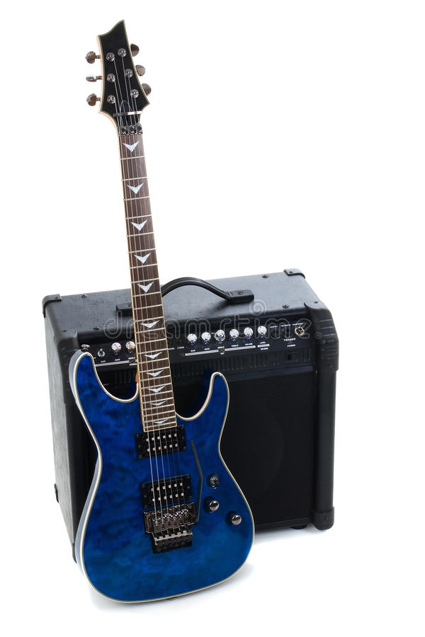 Guitar Amplifier And Electric-guitar Royalty Free Stock Photo