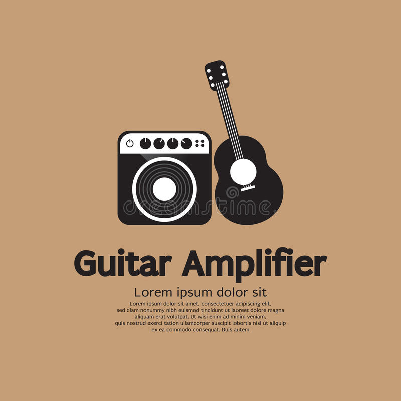 Guitar And Amplifier. royalty free illustration