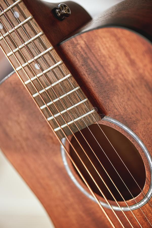 sound hole and strings of acoustic guitar stock photo image of sound guitarist 56842474. Black Bedroom Furniture Sets. Home Design Ideas