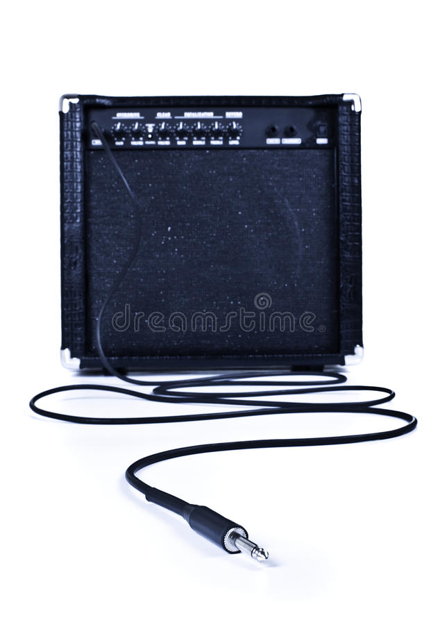 Download Guitar aplifier with cable stock image. Image of speaker - 13204333