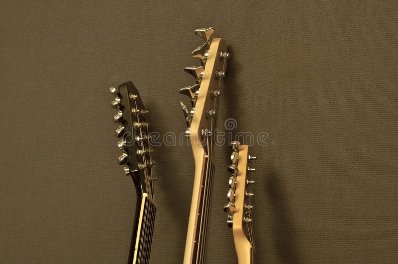 Guitar Arms royalty free stock photo